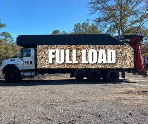 Fully loaded Kenzie Hauling truck