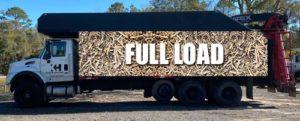 Fully loaded hauling truck