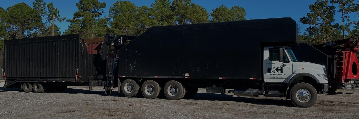 Kenzie Hauling truck - Located in St. Augustine, FL & Jacksonville, FL